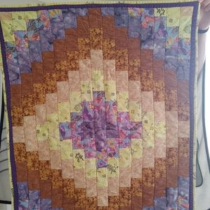 Vintage hand quilted baby blanket
